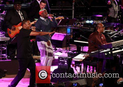 Doug E Fresh, Wyclef Jean and Stevie Wonder 1