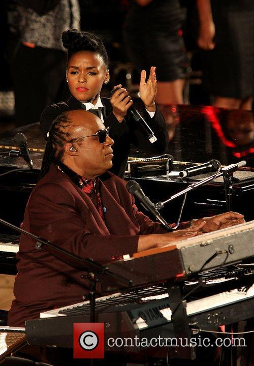 Janelle Monae and Stevie Wonder 2