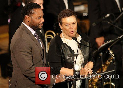 Malcolm Jamal Warner and Debra Lee 1
