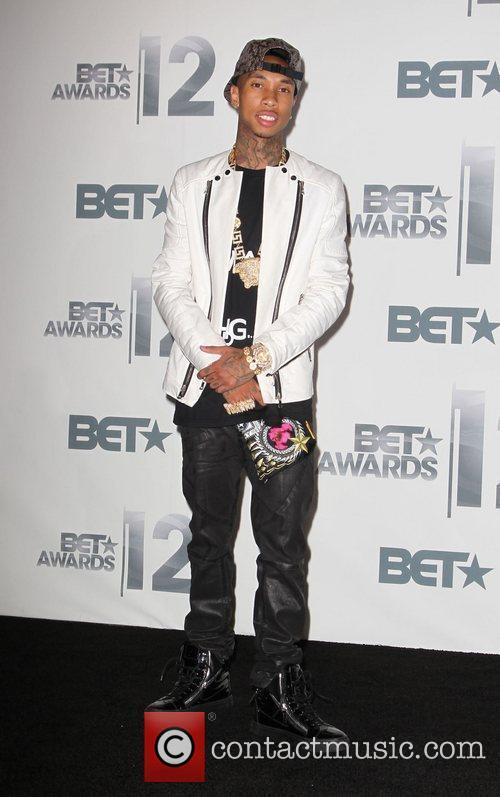 Tyga The BET Awards 2012 - Press Room...