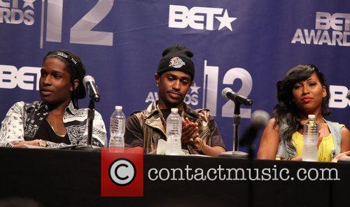 Rocky, Big Sean and Melanie Fiona 1