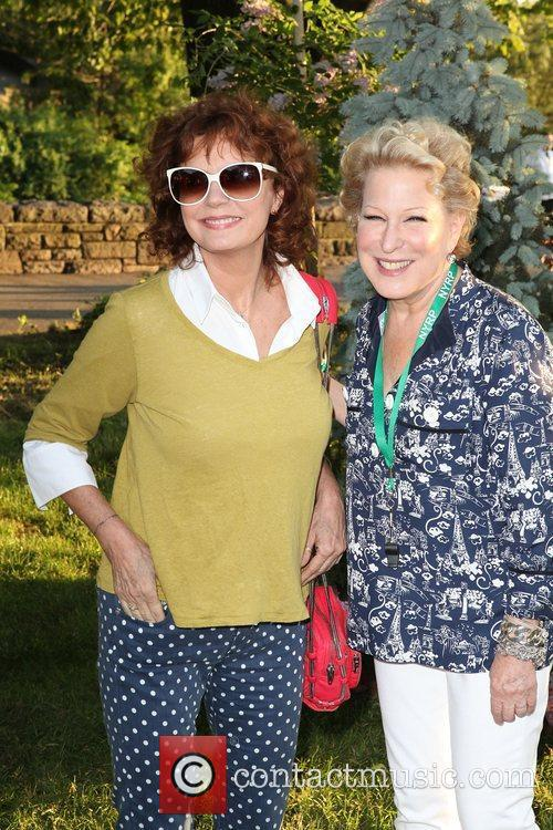 Susan Sarandon and Bette Midler,  at the...
