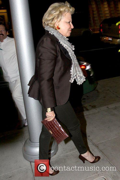 Actress Bette Midler is seen leaving Mr. Chow...