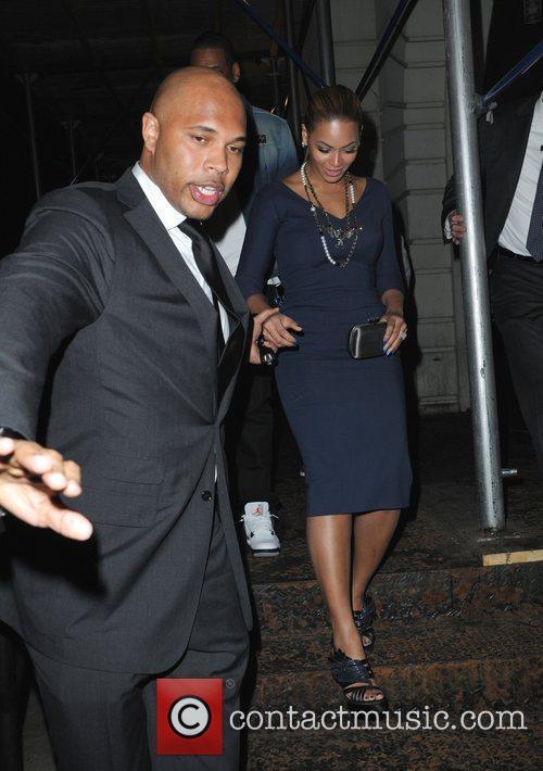 Beyonce Knowles leaving Nobu restaurant New York City,...