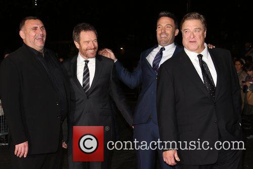 Graham King, Bryan Cranston, Ben Affleck, John Goodman and Odeon Leicester Square 1