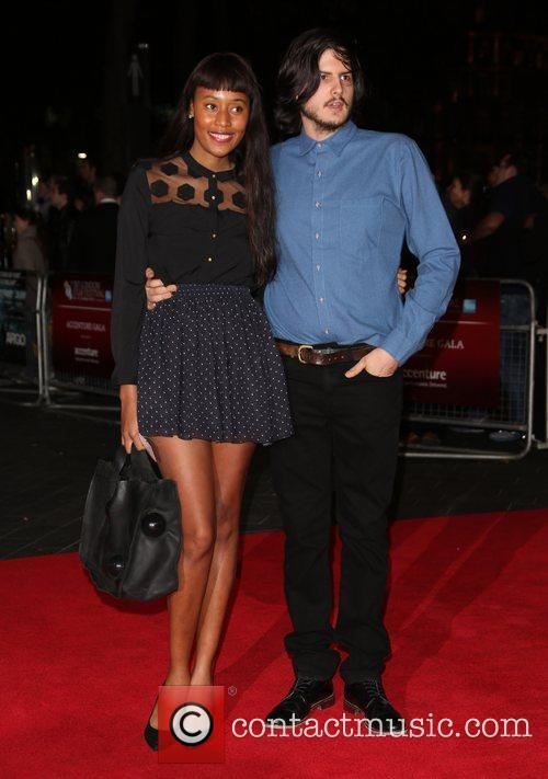 VV Brown and boyfriend 56th BFI London Film...