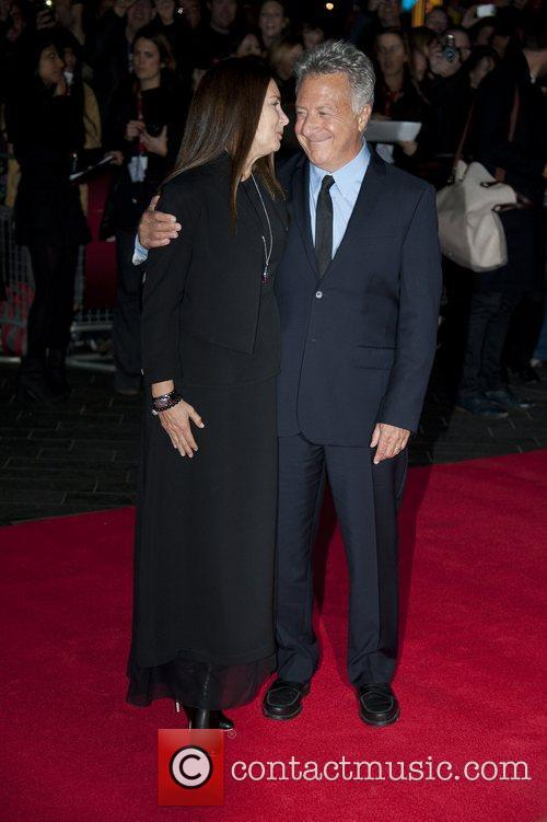 Dustin Hoffman and Lisa Hoffman at the premiere...