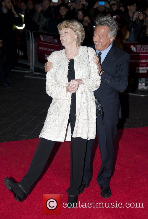 Dustin Hoffman, Maggie Smith, Quartet, Odeon, Leicester Square, London and England 1