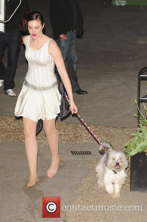 Ashleigh and Pudsey the dog at Britain's Got...