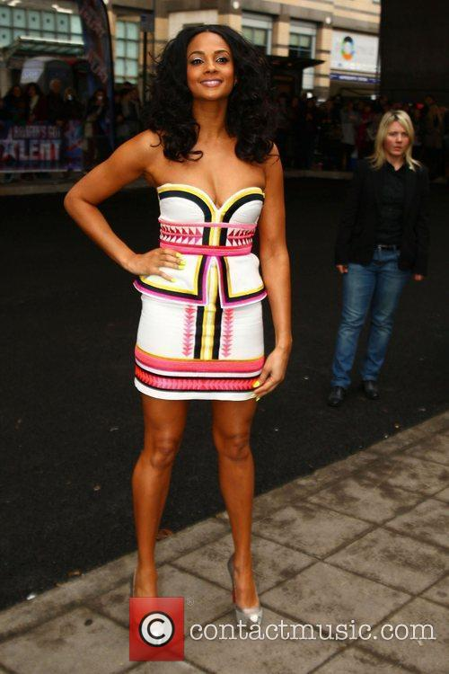 Alesha Dixon arrives at the 'Britain's Got Talent'...