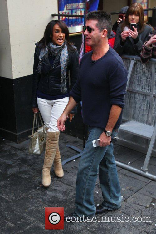 Simon Cowell and Jackie St Clair at the...