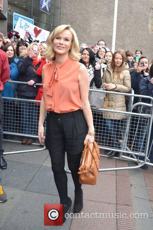 Amanda Holden arrives for 'Britain's Got Talent' Edinburgh...