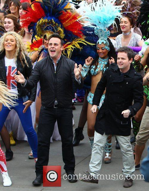 Ant and Dec - 'Britain's Got Talent' Flash Mob in Trafalgar Square London