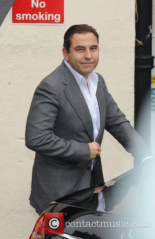 David Walliams arrives at Fountain Studios in Wembley...