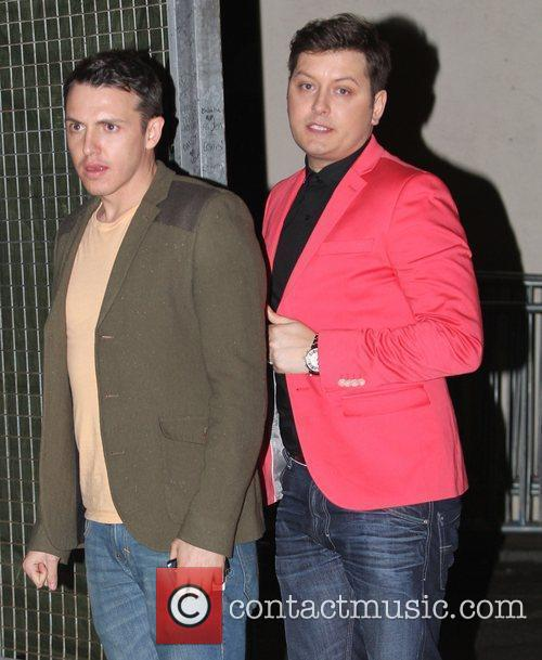 Brian Dowling leaving Fountain Studios after the Semi...