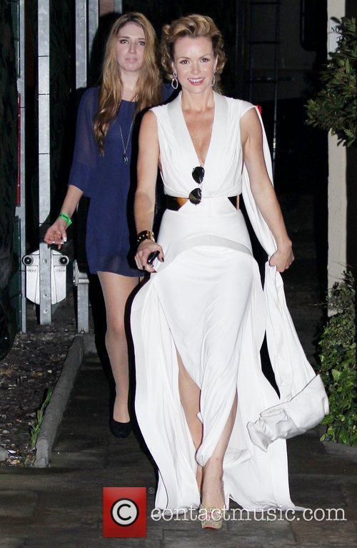 'Britain's Got Talent' judge Amanda Holden leaving Fountain...