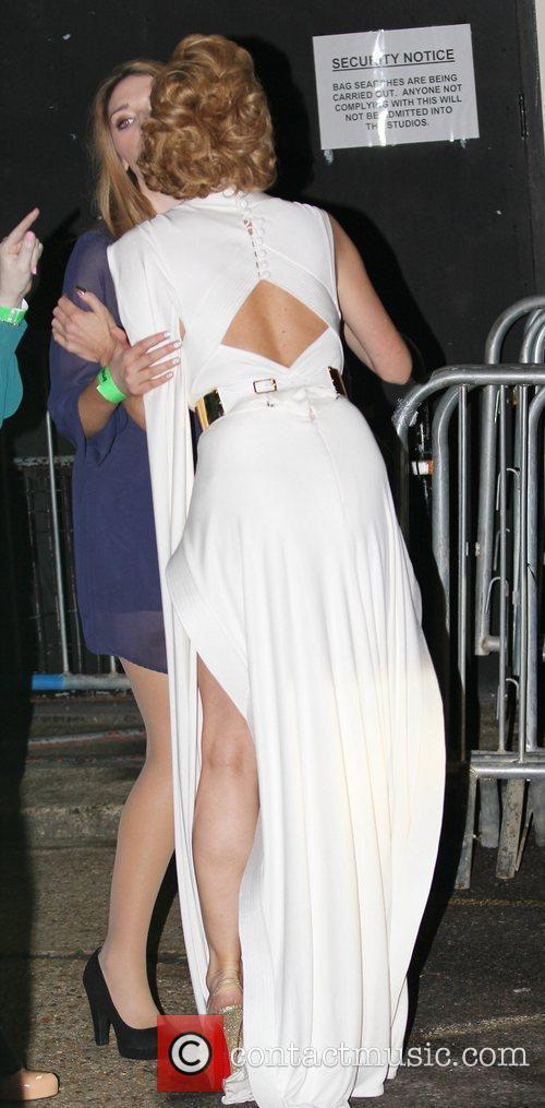Leaving Fountain Studios after the Semi Finals of...
