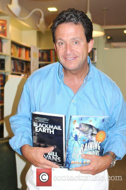 WABC-TV Meteorologist Bill Evans attends a book signing...