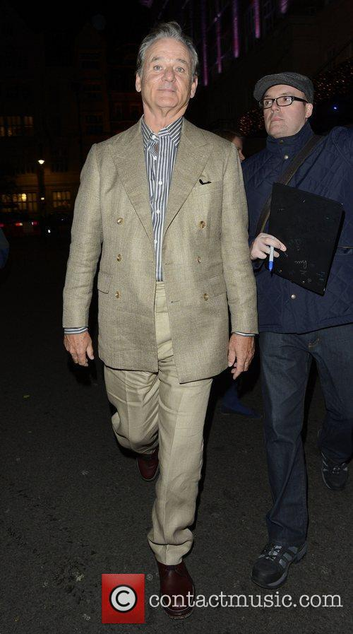 Bill Murray  leaving the Mayfair hotel London,...