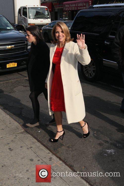 Katie Couric Outside of the Billboard Women in...