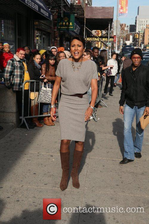 Robin Roberts Outside of the Billboard Women in...