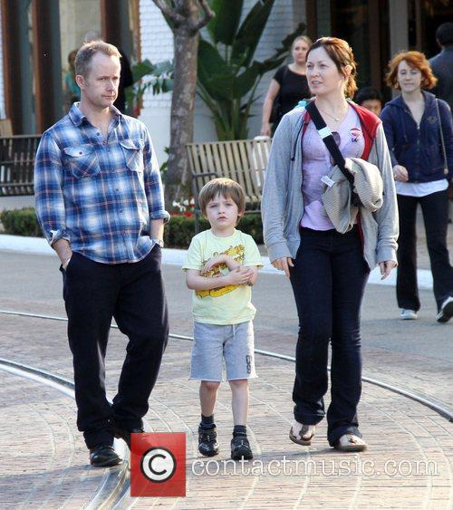 Shops at The Grove with his family