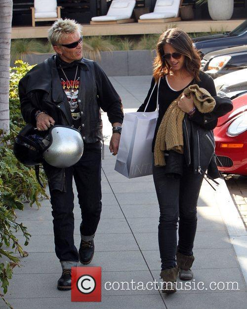 Billy Idol leaves the Intermix store in Malibu...