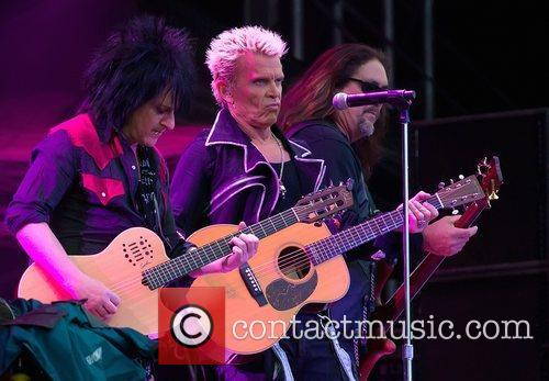 Billy Idol performing live during Day 4 of...