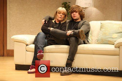 Linda Robson with her son  Birds of...