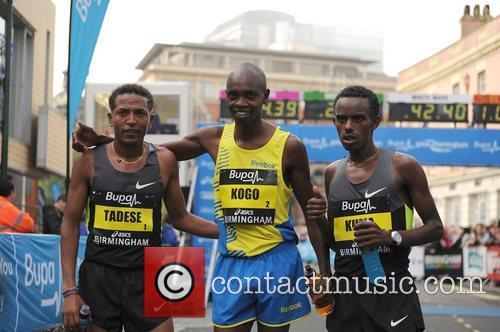 Zersenay Tadese, Micah Kogon and Abera Kuma Birmingham...