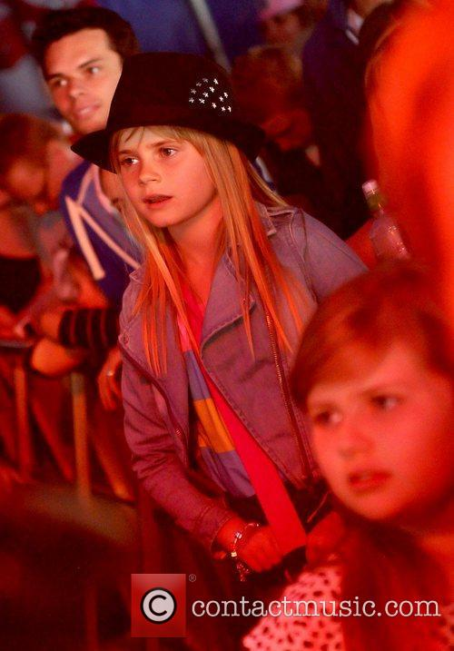 Kerry Katona's daughter Lilly-Sue McFadden watches her mother...