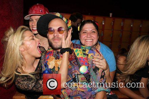 Amber Heard attend Johnny Wujek's Rollerskating Birthday Party...