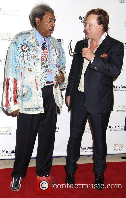 don king mickey rourke at the black 4100491