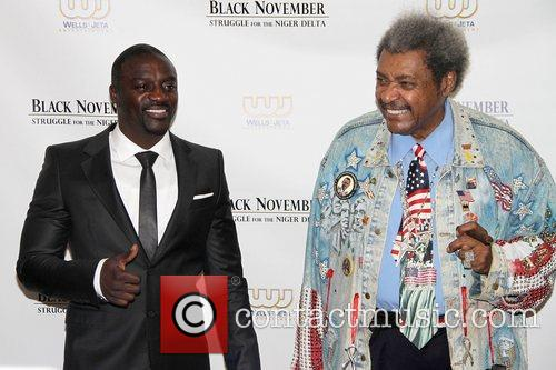 Akon, Aliaune Damala Badara Akon, Thiam and Don King 2