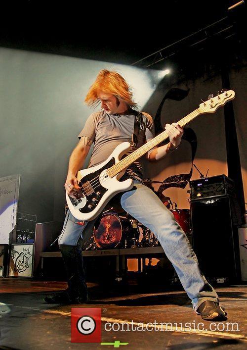 Jon Lawhon of Black Stone Cherry performing live...