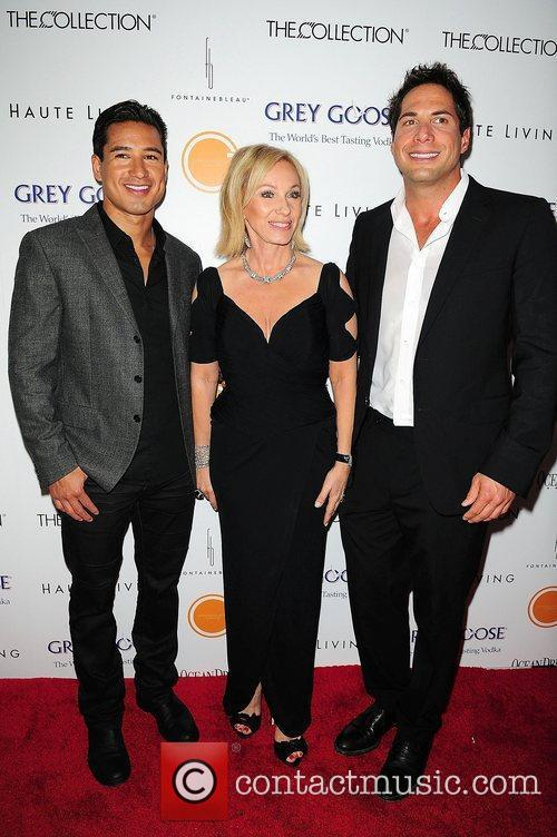 Lea Black, Mario Lopez and Joe Francis attends...