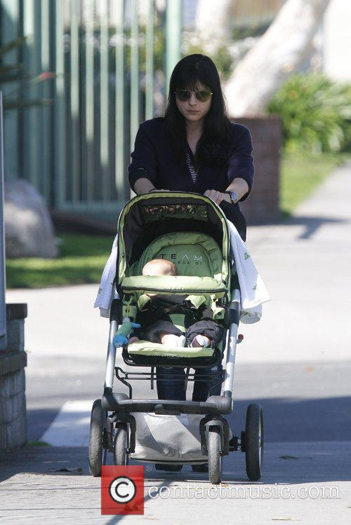 Selma Blair seen taking a stroll with her...