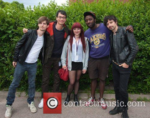 Bloc Party and photographer Emelie Andersson  during...