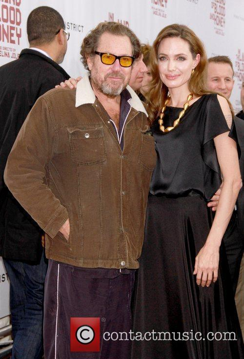 Angelina Jolie and Julian Schnabel