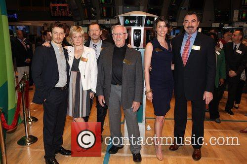 The cast of CBS's 'Blue Bloods,' visit the...