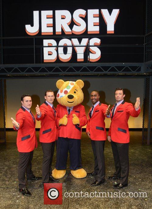 Anthony Costa, Lee Ryan, Pudsey, Bear, Simon Webbe and Duncan James 2