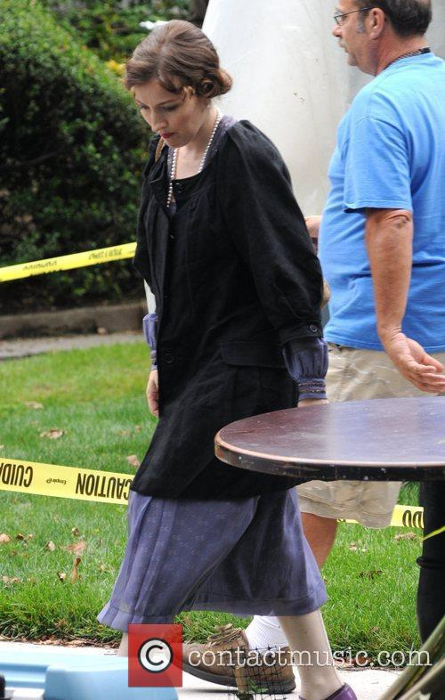 Kelly MacDonald on the set of 'Boardwalk Empire'...