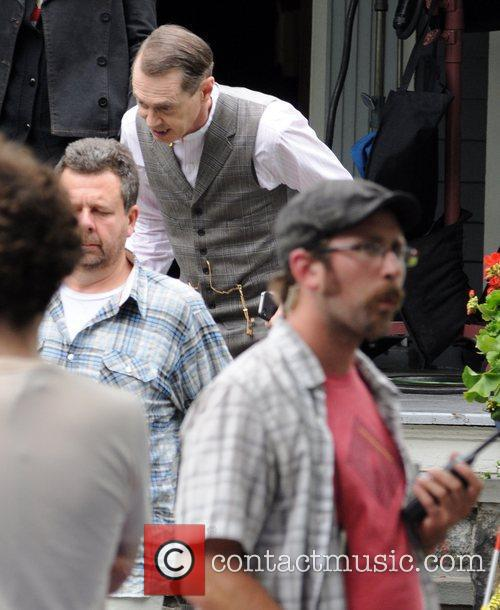 Steve Buscemi on the set of 'Boardwalk Empire'...