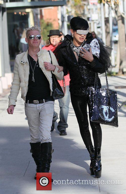 Bobby Trendy (right) out and about in Beverly...