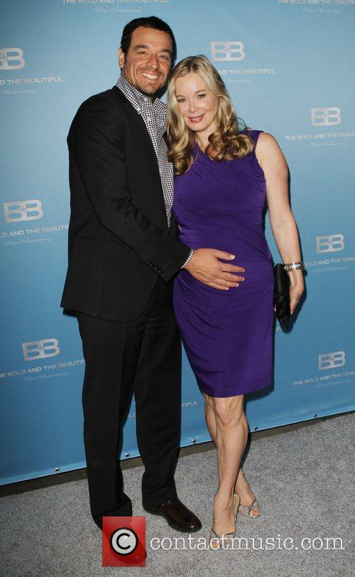Jennifer Gareis and husband Bobby Ghassemieh 25th Silver...