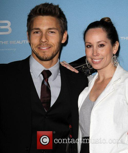 Scott Clifton and fiancee Nicole Lampson 25th Silver...
