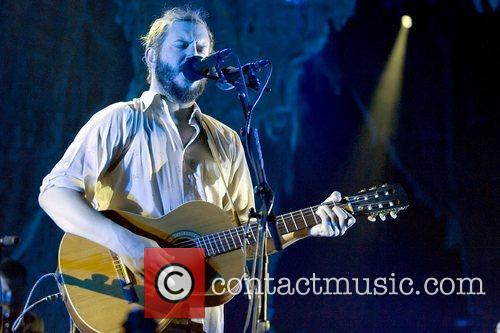 Bon Iver performs a headlining gig at the...