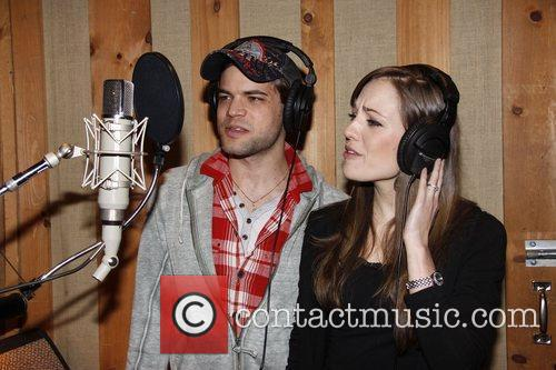 Jeremy Jordan and Laura Osnes  The cast...