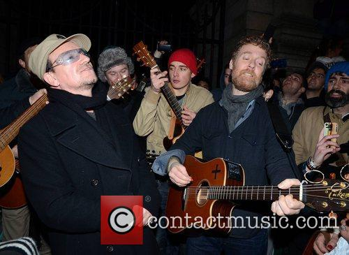 Bono, Glen Hansard and Stephen Park 10