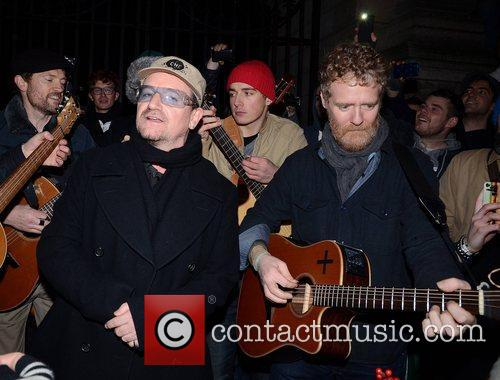 Bono, Glen Hansard and Stephen Park 7